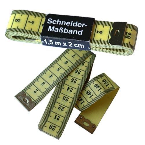 2 Stueck 1.5 m Schneider Flexible Kunststoff Massband