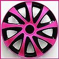 4 Radkappen 16 PINK Radzierblenden Radblenden Satz 16 Zoll schwarz pink INKL. MONTAGEANLEITUNG NEU & OVP TOP ANGEBOT ! von TEILE-24.EU Malinowski - Reifen Onlineshop
