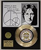 """John Lennon Laser Etched With the the Lyrics to """"Beautiful Boy"""" Limited Edition Gold Record Display"""