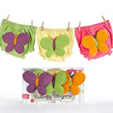 Betsy's Butterflies Baby Girl Underwear Gift Set | Baby Birthday or Shower Gift