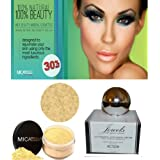 Mica Jewel Moisturizer Anti-Aging+Mineral Foundation 9gr MF2+Cala Lily Brush Set 70816+Aviva Nail Kit