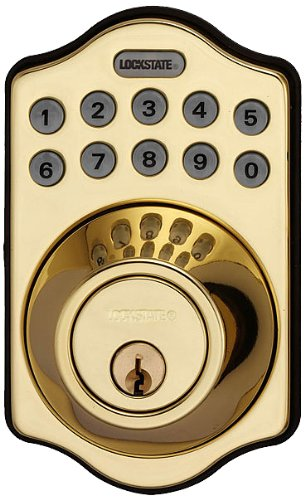 Lockstate Ls-500I-Db-Pb Wifi Programmable Electronic Deadbolt Door Lock, Polished Brass
