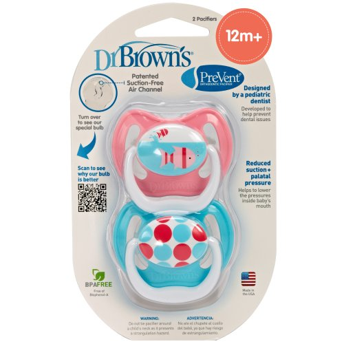 Dr. Brown'S 2 Pack Prevent Pacifier 12+ Months