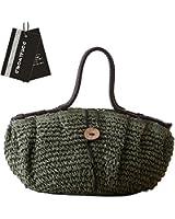 Donalworld Women Woven Retro String Large Casual Summer Beach Handbags