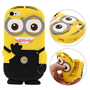 3D Despicable Me II Minions Style Silicone Case for iPhone 4 & 4S (Black)