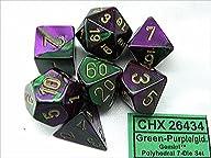 Polyhedral 7-Die Gemini Dice Set – Gr…