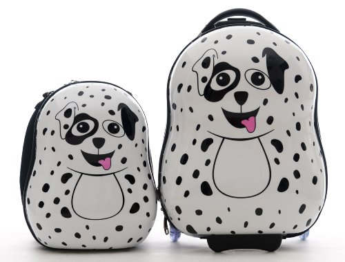 CUTIES AND PALS KIDS BOY GIRL TRAVEL 17″ CARRY-ON LUGGAGE + 13″ BACKPACK – DALMATIAN