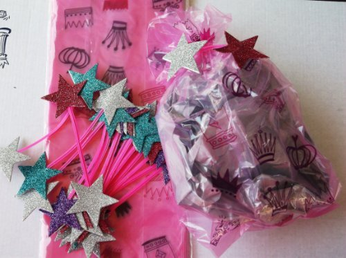Pink Crown with Star Tie Treat Bags 20 Ct by Mart
