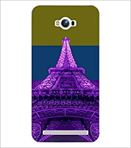 PrintDhaba Tower D-4916 Back Case Cover for ASUS ZENFONE MAX ZC550KL (Multi-Coloured)