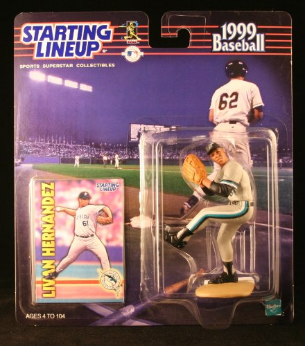 LIVAN HERNANDEZ / FLORIDA MARLINS 1999 MLB Starting Lineup Action Figure & Exclusive Collector Trading Card