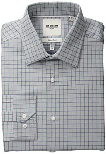 ben-sherman-mens-slim-fit-twill-check-spread-collar-dress-shirt-blue-green-17-neck-34-35-sleeve