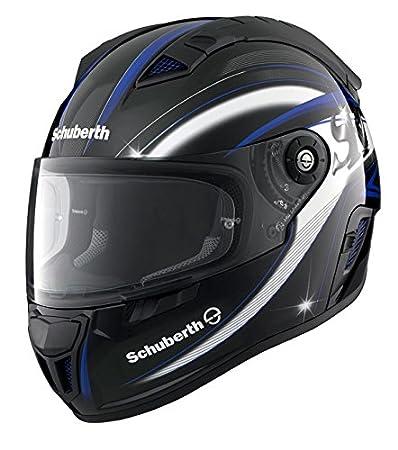 Casque de moto bleue de lame SCHUBERTH Sr1