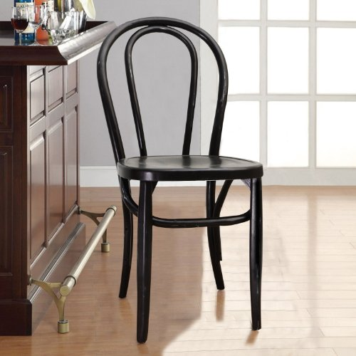 Joveco Vintage Style Solid Wood Dining Chair - Set of 2 (Black) 1