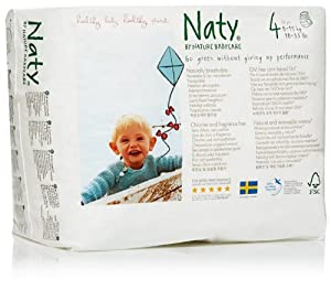 Naty by Nature Babycare Size 4+ (9-20 kg) Nappies--1 x Pack of 44 (44 Nappies)