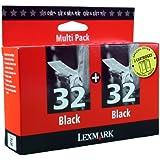 Lexmark 32 Black Twin Inks x 2