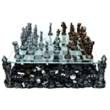 Renaissance Knight Chess Recreational Classic Strategy Game Set (Tamaño: 1.38)