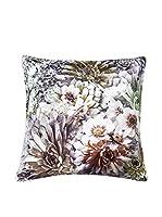 Casa di Bassi Cojín Con Relleno Extraíble Velvet Diji Flowers (Multicolor)