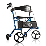 Hugo Mobility Sidekick Side-Folding Rollator Walker with Seat,...