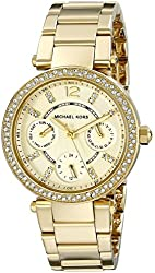Michael Kors Women's Parker Gold-Tone Bracelet Watch MK6056