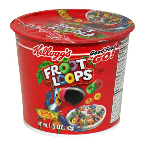Kellogg's Froot Loops Cereal Cups, 1.5-Ounce Cups (Pack Of