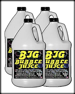 4 Gal - BIG Bubble Juice - Enormous Long-Lasting Bubble Fluid from Froggys Fog