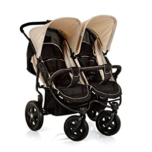 hauck Roadster Duo Double Buggy (Caviar/Almond)