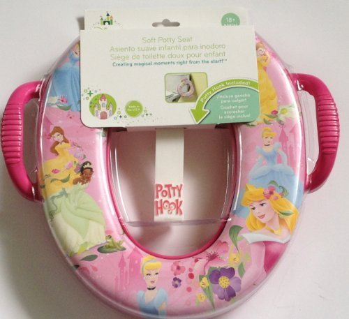 Disney Princess Princesses Soft Potty Seat with Hook Cinderella Belle Tiana Aurora