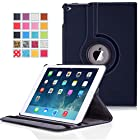 Apple iPad Air 2 Case - MoKo 360 Degree Rotating Cover Case for Apple iPad Air 2 (iPad 6) 9.7 Inch iOS 8 Tablet, INDIGO (with Smart Cover Auto Sleep / wake)