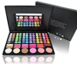 All In 1 High Quality Makeup Palette 60 Eyeshadow Colors 3 Contour 12 Lip Gloss 3 Highlighting And Blusher Shades 78 Piece Make Up Combo Portable Case With Built In Mirror And 2 Brushes