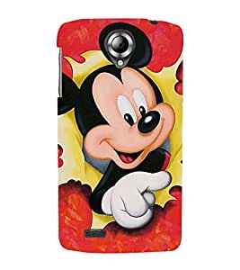 Vizagbeats micky mouse paper Back Case Cover for Lenovo 820