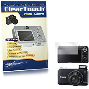 BoxWave Canon PowerShot SX230 HS ClearTouch Anti-Glare Screen Protector - Premium Quality Anti-Glare, Anti-Fingerprint Matte Film Skin to Shield Against Scratches (Includes Lint Free Cleaning Cloth and Applicator Card) - Canon PowerShot SX230 HS Screen Guards