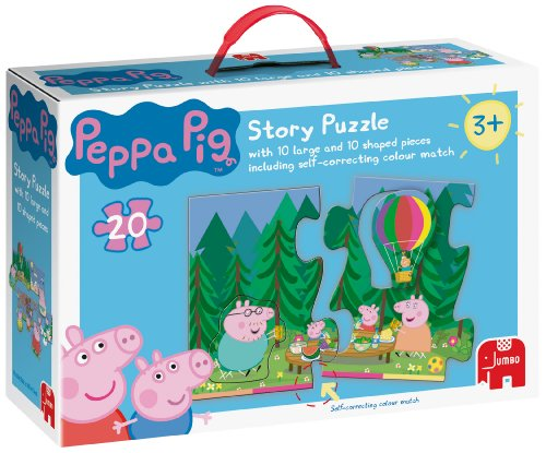 Peppa Pig Giant 20 Piece Story Jigsaw Puzzle (10 Jigsaw Pieces & 10 Shape Sorting Pieces)