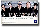 Blue October Poster - 11 x 17 Promo for the Any Man In America album tour -- wide