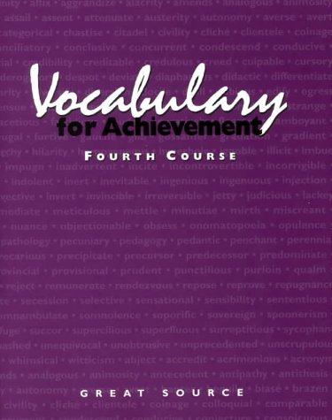 Vocabulary for Achievement: Course 4