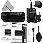 Vivitar Battery Grip Kit for Nikon D7100 DSLR Cameras - Includes Vivitar MB-D15 Battery Grip + 2 Vivitar EN-EL15 Batteries + Rapid Travel Charger + Cleaning Kit + MagicFiber Microfiber Lens Cleaning Cloth (Nikon MB-D15 and EN-EL15 Replacements)