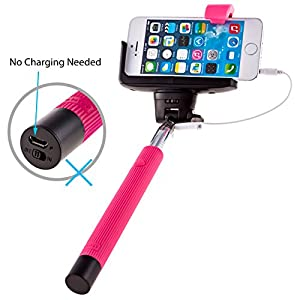 overstock sale ptdc selfie monopod stick with built in remote shutter wired cable. Black Bedroom Furniture Sets. Home Design Ideas