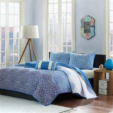 Mizone Paz Coverlet Set - Blue - Full/Queen front-598166