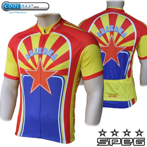 SPEG Arizona 100% Vapore Cycle Cycling Jersey USA - United States RRP $80.99 Bike Shirt