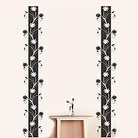 Happy Walls Vertical Floral Vines Vector Art Wall Sticker/Decals (6962)