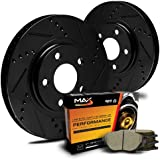 Max KT064881 [ELITE SERIES] Front Performance Slotted & Cross Drilled Rotors and Ceramic Pads Combo Brake Kit