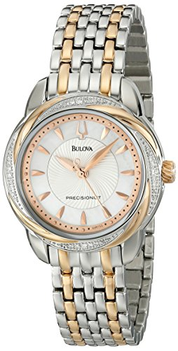 Bulova Women'S 98R153 Precisionist Brightwater Two Tone Rose Gold Watch