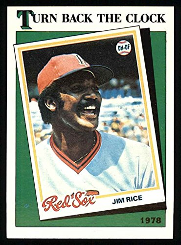 1988 Topps # 662 Turn Back The Clock Jim Rice Boston Red Sox (Baseball Card) Dean's Cards 8 - NM/MT (Jim Rice 662 compare prices)