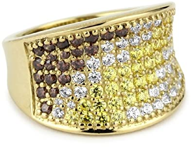 Myia Passiello Pave Colors Swarovski Zirconia Saddle Ring, Size 6