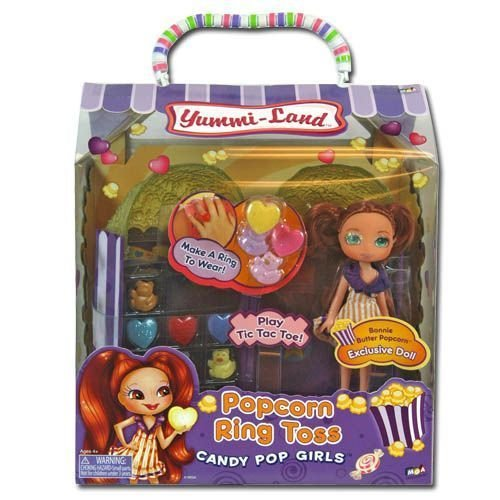 Yummi-Land On the Go Candy Pop Girls Playset Popcorn Ring Toss with Doll