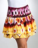 bebe Box Pleated Print Skirt
