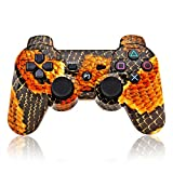 YANX PS3 Controller Remote Wireless Double Shock Gamepad for Playstation 3 (Snakeskin)