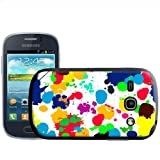 Fancy A Snuggle What A Mess Paint Splash Drop and Drips Design Hard Case Clip On Back Cover for Samsung Galaxy Fame S6810