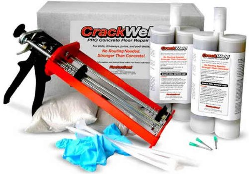 CrackWeld® PRO Concrete Floor Repair Kit - Seal Cracks In A Basement Floor, Driveway, Garage, Patio, Pool Deck Reviews