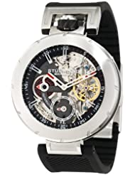 Stuhrling Original Men's 324.33162 Sportsman Emperor VT Automatic Skeleton Dual Time Silvertone Watch