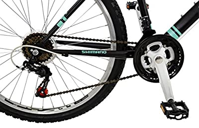 Falcon Women's Vienne Hard Tail Mountain Bike - Black/Teal, 12 Years